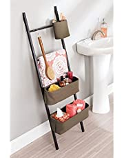 InterDesign Formbu Toothbrush Holder Stand for Bathroom Vanity Countertops - White/Espresso