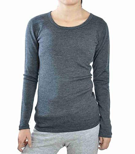 SLCG Thermounterwäsche Mittlere Crews Der Frauen Next to Skin (NTS) Schicht Reine Kleidung Thermische Warme Unterwäsche, Grau, S -