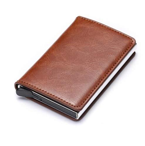 zlyhk Ledertasche Diebstahlsicherung Männer Vintage Kreditkarteninhaber Sperrung Brieftasche Leder Unisex Sicherheit Brieftasche Leder Frauen Magie Brieftasche (Frauen Magie Brieftasche Für)