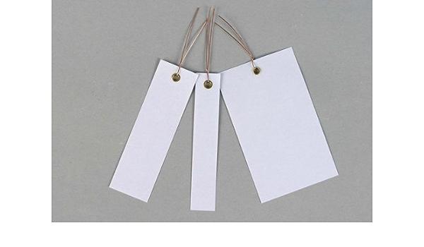Drahtanhänger Papierbeschichtet Weiß 1 000 Stück Größe 10 X 6 Cm Auto