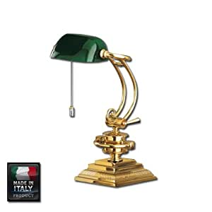 Lampada da scrivania presidenziale scrittoio oro dorata verde casa e cucina - Amazon lampade da tavolo ...