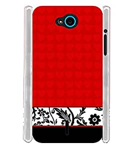 Red Floral Chek Soft Silicon Rubberized Back Case Cover for InFocus Bingo 21