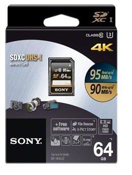 Sony 64GB SD Class 10 UHS-1 Blazing Fast Speed Memory Card (SF-64UZ)