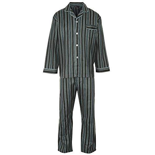Thermische Jungen Schlafanzug (i-Smalls Herren Winceyette aus gebürstetem Baumwollpyjama (5XL) Blue)