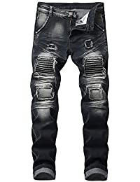 AIYINO Mens Slim Fit Straight Leg Stretchable Denim Jeans Pants All Waist