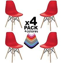 duehome - Nordik - Pack 4 sillas, Silla de Comedor, Salon, Cocina o