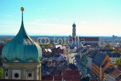 """Alu-Dibond-Bild 120 x 80 cm: """"Ulrichskirche Augsburg"""", Bild auf Alu-Dibond"""