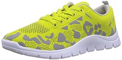 Bronx  BX 856, Sneakers basses femme - Vert - Grün (lime/l.grey1353), Taille 40 EU