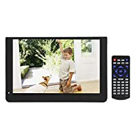 Garsent 12-inch Portable Digital TV, 1080P 16:9 LED Mini Handheld DVB-T/T2 Digital TV with 12V Car Charger Support VGA/AV/HDMI/SD/MMC/USB card Television Player for Car, Camping, Outdoor, Bedroom.