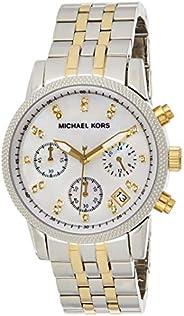 Michael Kors Womens Quartz Watch, Analog Display and Stainless Steel Strap MK5057
