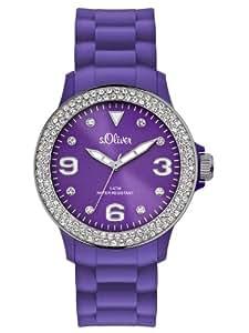 s.Oliver Damen-Armbanduhr Analog Silikon SO-2445-PQ