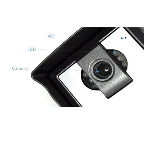 """PUTECA 7"""" inch TFT LCD Black and White Indoor unit 700TVL 5 IR LED Night vision Camera Black and white outdoor metal unit Wire Video Door Phone Doorbell Intercom System 1 VS 2"""