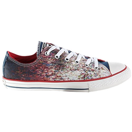 Converse - Chuck Taylor All Star CT OX - 647644C - Color: Blanco-Rojo-Azul marino - Size: 32.0
