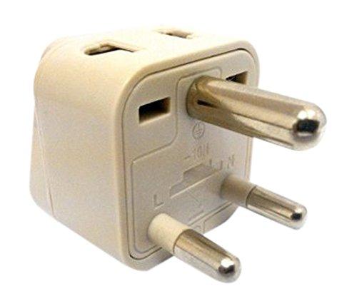 1 pieza 95412 Contacto de protecci/ón Conector en enchufe de Sud/áfrica Adaptador de corriente Adaptador de viaje