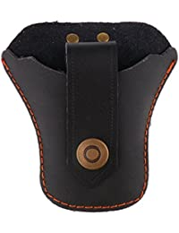 Magideal Outdoor Hunting Slingshot Steel Ball Leather Waist Bag Pouch Case Black