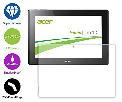 ZeWoo Display Glas Panzerfolie für Acer Iconia Tab 10 (A3-A30)(10.1 Zoll)Glasfolie Hartglas Schutzfolie 9H *2.5D, nur 0,33mm dünn (Screen Iconia Acer Protector)