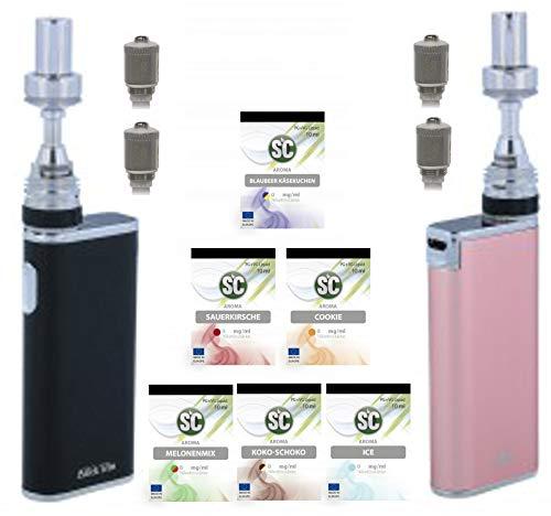 Preisvergleich Produktbild E-Zigarette SC iStick Trim Starterset Geschenk Valentinstag Partner Set / Edles schlankes Design / 1800 mAh / mit SC Liquid - 00mg Nikotinfrei