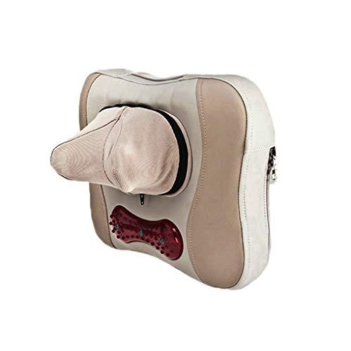 Huayer 378/5000 Reisekissen Auto Kopfstütze Hals Shiatsu Massage Multifunktions Heizung Elektrische Massage Kissen für Taille/Rücken/Bein Haushalt Büro -