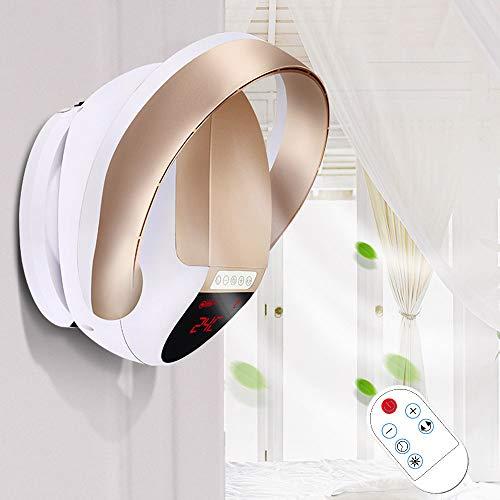 HRD Ventilador de Pared sin Hojas, con Control Remoto/Temporizador, Ventilador de Escritorio silencioso...