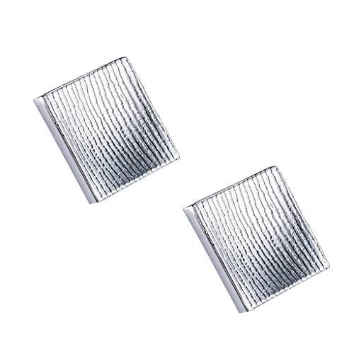 Möbel Kupfer Kleiner Griff, Holzmaserung Muster Quadrat Griff Hardware Schrank Schublade Kleiderschrank Dekoration Griff,D,S (Ds 411)