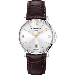 Certina C017.410.16.037.01 - Reloj de cuarzo para hombre, con correa de acero inoxidable, color marrón