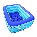 LQ-chongqiyug Aufblasbare Badewanne JXwang Mit Manueller Luftpumpe Tragbare Whirlpool-Badewanne Für Kinder Für Erwachsene. (Color : Blue, Size : 115x75x35CM)