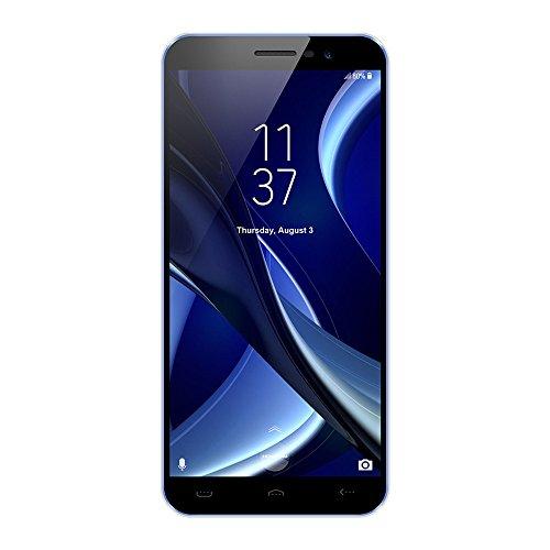 Smartphones Telefono Moviles Libres Baratos, BeautyTop HOMTOM S16 5.5'' Ultradelgada Android7.0 Quad-core 2GB+16GB 3G WiFi Bluetooth Cámara dual trasera HD Mobile Telefoon (Azul, 5.5'')