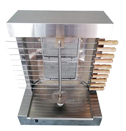 Bruciatori bioexcel 2 - shawarma machine kebab grill - macchina doner kebab con 10 spiedini di kebab