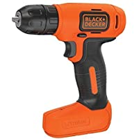 Black+Decker 7.2V Li-Ion Cordless Electric Compact Drill Driver for Screwdriving & Fastening, Orange/Black - BDCD8-B5, 2 Years Warranty