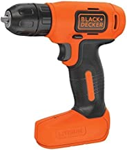 Black+Decker 7.2V Li-Ion Cordless Electric Compact Drill Driver for Screwdriving & Fastening, Orange/Black