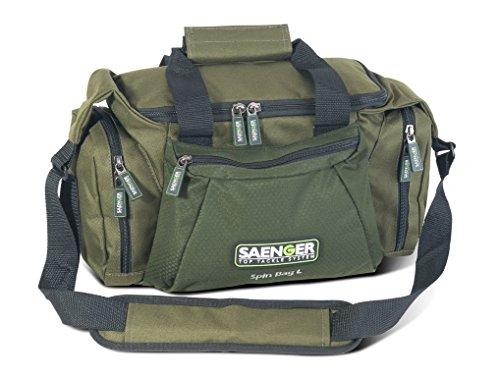Saenger Spin Bag, Taschen Zum Spinnfischen in 2 Größen, inkl. 3 Köderboxen, wasserbweisend, Material: 600D Polyester Spin Bag L