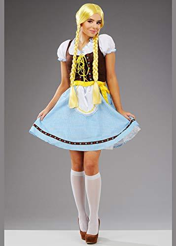 (Magic Box Int. Damen Oktoberfest Blaues Bayerisches Biermädchen Kostüm Small (UK 8-10))