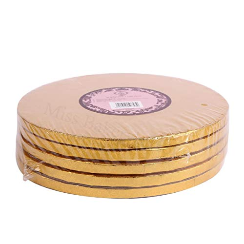 Miss Bakery's House® Cake Drum - 12 mm - Ø 30 cm - Gold - 5 Stück Gold Cake Drum