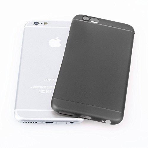 AcAccessoiress-Iphone 6/6S(4,7) Ultra Slim Case Schutzhülle in Weiß transparent matt-Ultra dünne Iphone Hülle mit Kameraschutz Rundumschutz Schwarz