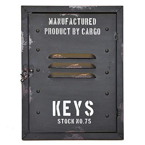 trendaffe Retro Spind Schlüsselkasten - Vintage Schulspind Schlüsselhalter Schlüsselbrett Schlüsselboard