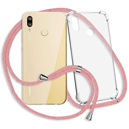 mtb more energy® Handykette für Huawei P20 Lite (5.84\'\') - rosa - Smartphone Hülle zum Umhängen - Anti Shock Strong TPU Case