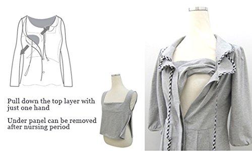 SN3021 Pyjama de Grossesse et Allaitement melange grey