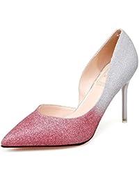 GAOLIM Los Zapatos De Tacón Alto Zapatos De Mujer Degradado con Ultra-Fina con Zapatos De Mujer Zapatos De Boda...