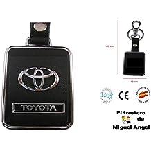 Llavero cuero y metal Toyota