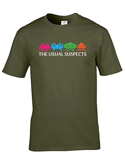 Space Invaders 'The Usual Suspects' Adults Premium T-shirt in Many Colours - S to XXL