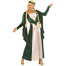 Widman - Disfraz de realeza reina medieval para niña, talla L (S/57783)