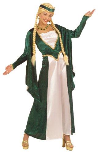 Widmann 57783 - Kostüm Mittelalter Lady, Kleid und Kopfschmuck, Gröߟe (Lady Grüne Kostüme Renaissance Erwachsene)