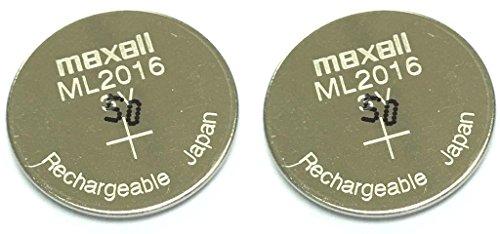 Maxell ML2016X 2Lithium-Mangan-Batterien (ML) Lithium-Akku