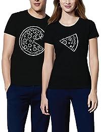 VIVAMAKE® Pack 2 Camisetas para Mujer y Hombre Originales con Diseño  Amantes ... 329825e091b67