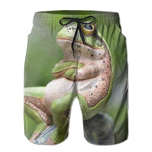 Jhonangel Teen Boys Beach Board Shorts niedlich lustig cool Frosch Badehose L (Teen Boy Shorts)