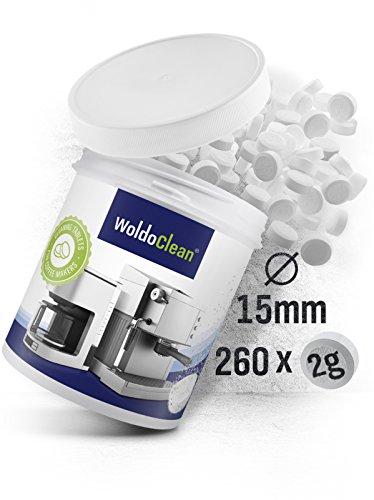 WoldoClean | 260x Reinigungstabletten für Kaffeevollautomaten | Vollautomat | Kaffeemaschinen | Kaffeeautomat | Reinigungstabs | Kaffeefettlöser