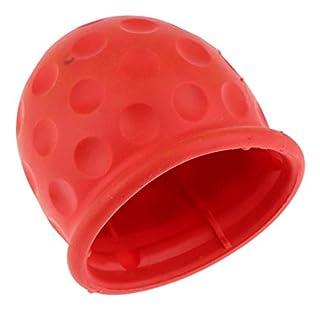 B Blesiya Schutzkappe Anhängerkupplung mit Sicherungsring Kugelschutzkappe Abdeckkappe Rot