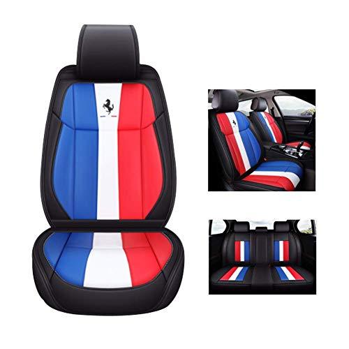 ZGYQGOO Vier Jahreszeiten Leder Gm Sitzbezug für alle Modelle von Audi Q3 Q7 Q5 A5 A3 8 V A4 B6 B9 B8 C7 A6 C6 SUV Fünf-Sitz-Autositz, blau