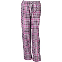 Donna Morbido Pantaloni Lounge pantaloni pigiama in flanella a quadretti