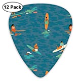 Surf Goddess_1074 Classic Celluloid Picks, 12-Pack, For Electric Guitar, Acoustic Guitar, Mandolin, And Bass